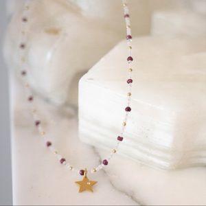 24K Gold/Sterling Silver Star Pendant Necklace